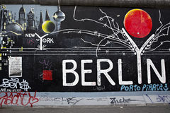 Berlin Wall. Remainder of the Berlin Wall Royalty Free Stock Images