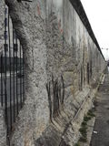 Remaining Segment of the Berlin Wall, Berlin. A remaining segment of the Berlin Wall, Berlin, Germany. Taken from what would have been the western side of the Royalty Free Stock Photos