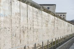 Berlin wall perspective Royalty Free Stock Photo