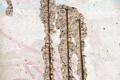 Berlin wall ruins Royalty Free Stock Image