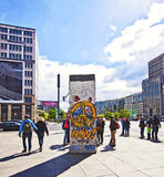 Berlin wall section on display at Potsdamer Platz Stock Photo