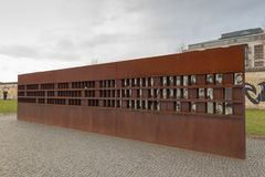 Berlin wall victims monument historical stock photo