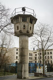 Berlin wall watch tower Stock Photo