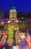 Berlin-Weihnachtsmarkt Gendarmenmarkt Stockbilder