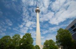 Berlin wierza Aleksander miejsce, maj 2017/ Zdjęcia Stock
