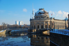Berlin in Winter. Bode museum Royalty Free Stock Photography