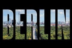 Berlin word Stock Photography