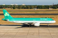 BERLIN, wrzesień 7, 2018: Lotniczy lingus, Aerobus A320-214 a fotografia stock