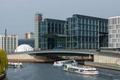 Berlin's main railway station Stock Photos