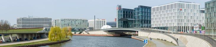 Berlin's main railway station. Panorama. Royalty Free Stock Image