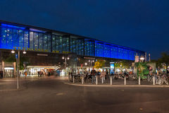 Berlin Zoo Station / Bahnhof Zoo. Berlin's Zoo Station during the 2013 event Berlin leuchtet Stock Images