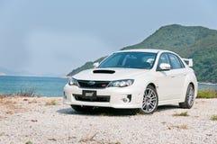 Berlina di sport di STI di Subaru WRX immagine stock libera da diritti