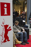 Berlinale information point stock photos