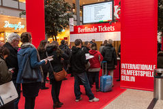 Berlinale Queue Royalty Free Stock Photo