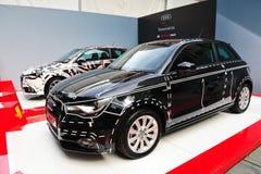 Berline avec hayon arrière nouvellement lancée d'Audi A1 chez Audi Fashion Festival 2011 Photo libre de droits