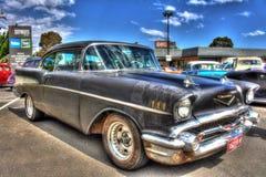 Berline classique de Chevy d'Américain des années 1950 Photo stock