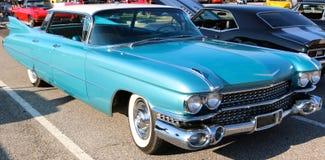 Berline 1957 d'Emerald Blue Cadillac photo libre de droits