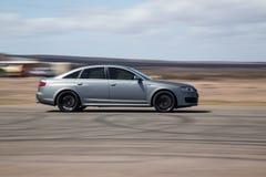Berline de Matt Grey Audi RS6 photographie stock