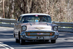 Berline 1957 de sports de Chevrolet Belair Photographie stock libre de droits