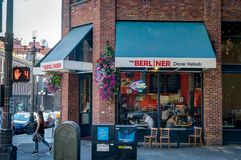 Berliner D-ner Kebap i Seattle Washington United States av Ame Arkivfoton