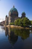 Berliner Dom. And reflection on Spree river in Berlin, Germany royalty free stock photos
