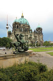Berliner Dom. Or Berlin Cathedral and in a distance the Television Tower, Berlin, Germany Stock Photography