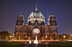 Berliner Dom. With TV Tower in the background Stock Photos