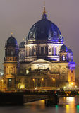 Berliner Dom. View of the Berliner Dom illuminated in the night Stock Image