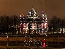 Berliner Dom anf festival of lights in Berlin. BERLIN, GERMANY - OCTOBER 17: Festival of lights and Berliner Dom in Berlin, Germany on October 17, 2013. FESTIVAL stock photos