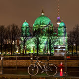 Berliner Dom anf festival of lights in Berlin Stock Photography