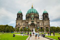 Berliner Dom in Berlin. BERLIN - AUGUST 21, 2017: Berliner Dom on August 21, 2017 in Berlin, Germany. It`s the short name for the Evangelical Supreme Parish and Royalty Free Stock Photo