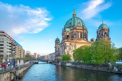 Berliner Dom in Berlin city, Germany on Museum Island in the Mitte borough.  royalty free stock images