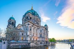 Berliner Dom in Berlin city, Germany on Museum Island in the Mitte borough.  royalty free stock photo