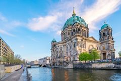 Berliner Dom in Berlin city, Germany on Museum Island in the Mitte borough.  stock image