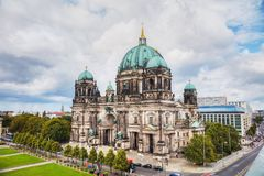 Berliner Dom in Berlin. On a cloudy day royalty free stock image