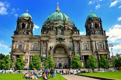 Berliner Dom cathedral church in Berlin, Germany. Stock Photos