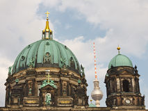 Berliner Dom (Cathedral) / Fernsehturm (TV Tower) Stock Photography