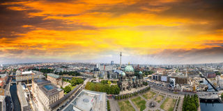 Berliner Dom and city buildings as seen from the air, Germany Royalty Free Stock Photo