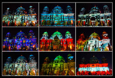 Berliner Dom Collage Stock Foto's