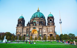 Berliner Dom in the evening Stock Photos