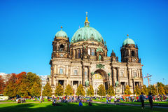 Berliner Dom in the evening Stock Photo