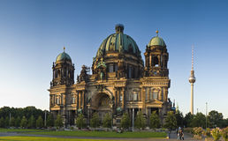 Berliner Dom & Fernsehturm television tower Royalty Free Stock Images