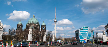 The Berliner Dom and Humboldt Box Royalty Free Stock Photography