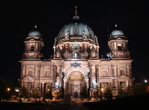 Berliner Dom at night Royalty Free Stock Images