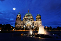 The Berliner Dom in the night in Berlin Royalty Free Stock Image