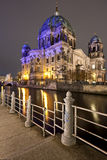 Berliner Dom at night, Berlin Royalty Free Stock Image