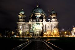 Berliner Dom by night Royalty Free Stock Photography