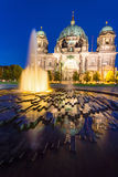 The Berliner Dom at night Royalty Free Stock Images