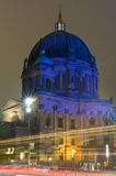 Berliner Dom in the original illumination Royalty Free Stock Photo