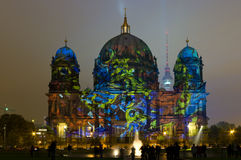 Berliner Dom in the original illumination Royalty Free Stock Photography